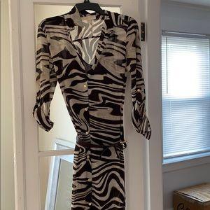 Printed vaca dress